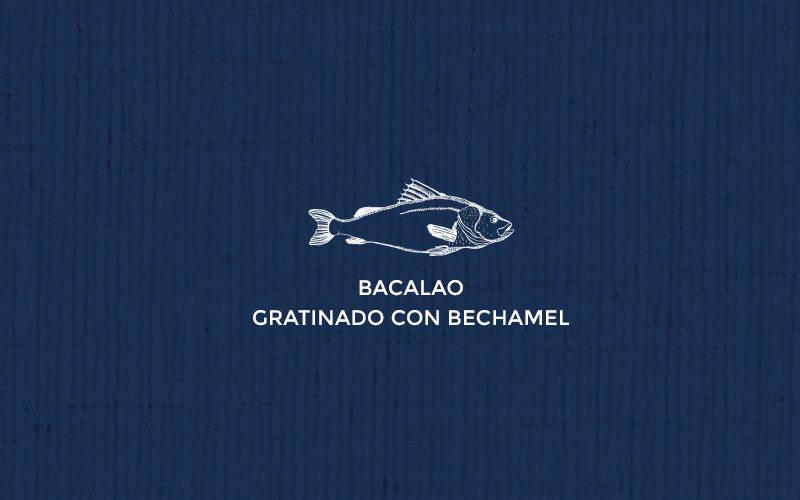 Bacalao gratinado con bechamel